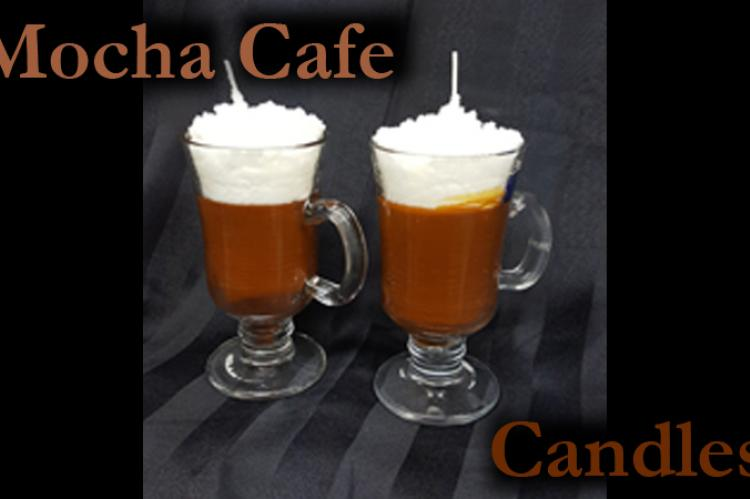 Mocha chocolate beverage candles