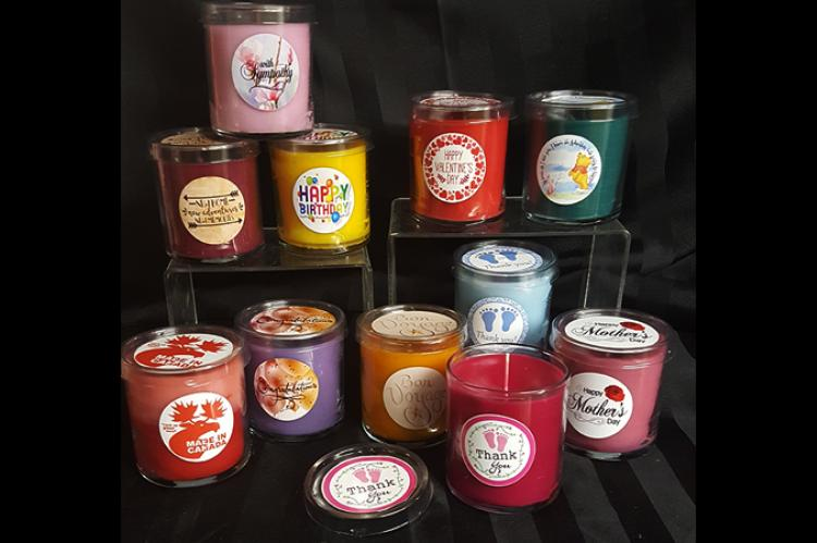 grouping of gift candles