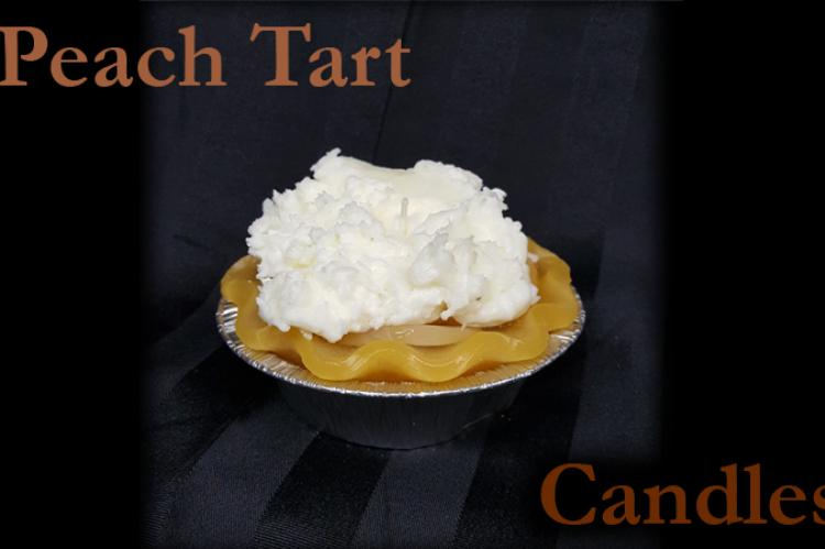 Peach tart candle