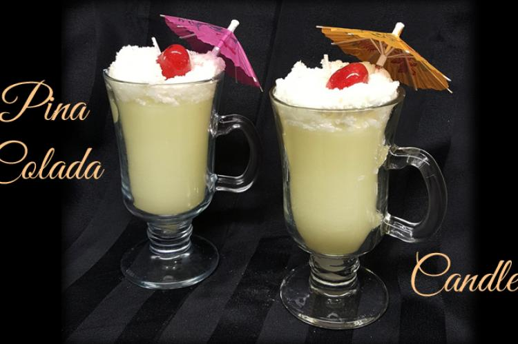 Pina Colada Drink candle
