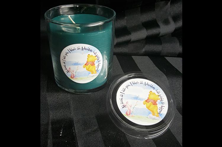 Winnie the Pooh friendship candle