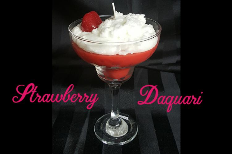 Strawberry daquari drink candle