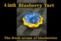 4 inch blueberry tart candle