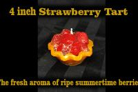 4 inch strawberry tart candle