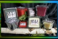 A Collection of Wood wick candles